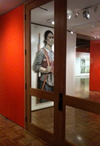A peak of the exhibit through its doors...