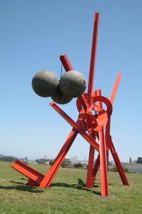 Figolu, 2005-2011, painted steel with steel buoys, front view