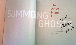Hung Liu signed book