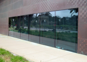 From the outside of the de Young museum...