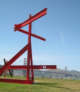 Mother Peace, 1969-70, painted steel.