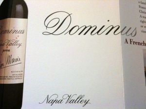 From the Dominus Estate promotional material...