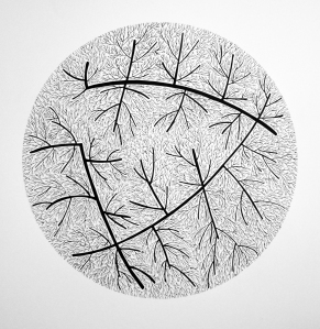 JBD.9.13.42828, Pen and Ink on Paper, 28x28 inches on 44x60 inches paper