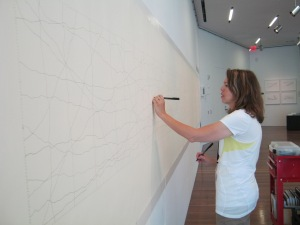 Drawing on a large scale.