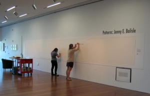 9/2/13: Interns marking every 1/4 inch on the drawing