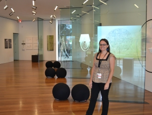 Hardworking artist and museum studies graduate student Monika.