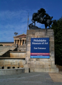 Front entrance to the Philadelphia Museum of Art.