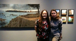 Luck me to have a photo with artist Christine Hanlon.