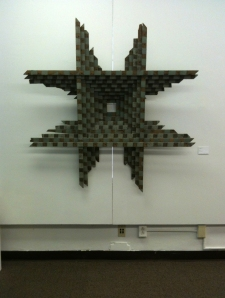 Artist Barbara Holmes used reclaimed lattice in 2008 to create Untitled I.