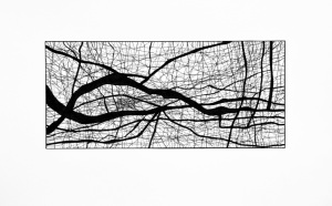 JBD.6.14.2511, 5x11 inches pen and ink drawing on 14x17 inches paper.