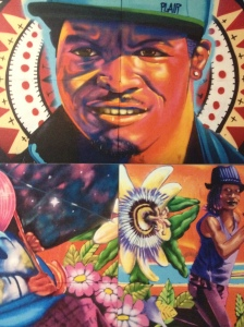 Close-up of Youth Voice and Community Empowerment Mural by Veronica Orozco/RYSE Center.