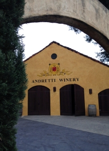 Outside of Andretti Winery.