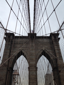 Love the lines on the Brooklyn Bridge.