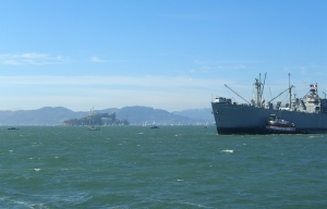 Alcatraz showcases an amazing exhibition from afar...