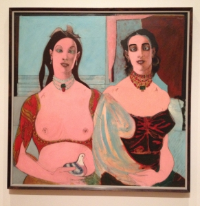 Haunting portrait tittled Two Sisters by John D. Graham.