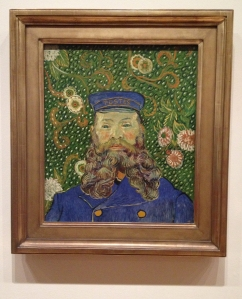 Portrait of Joseph Roulin by Vincent van Gogh.