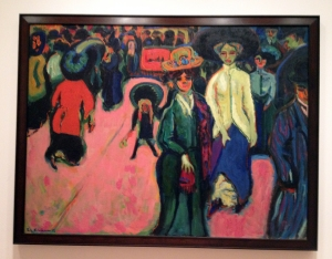 The wild colors of Street, Dresden by Ernst Ludwig Kirchner.