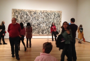 Jackson Pollock is popular at the MoMA!