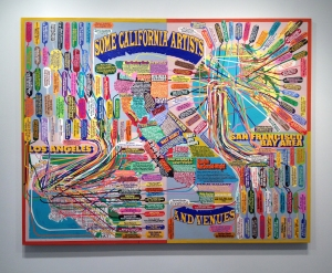 Best gallery painting  by Loren Munk titled Some California Artists & Venues at Minus Space.