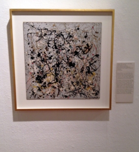 Jackson Pollock, Number 20, Oil on Masonite game board.