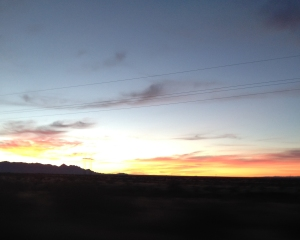 Leaving Tucson early in the morning...