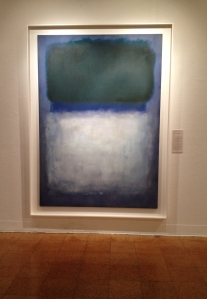 Mark Rothko, Green on Blue (Earth-Green and White), Oil on Canvas.
