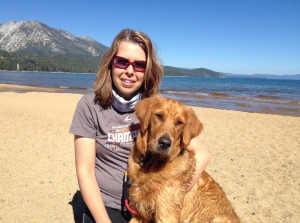 Jenny and Tule finding inspiration in Tahoe.