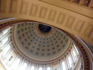Inside the dome.