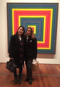 Curator Janet Fong and I.